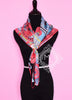Hermes Black Red Twill Silk 90 cm Parures De Samourais Scarf - New