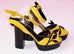 Hermes Womens Yellow / Black Macumba Sandal Shoes