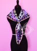 Hermes Purple Twill Silk 90 cm Appaloosa des Steppes Scarf