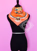 Hermes Orange Gray Twill Silk 90 cm Paperoles Scarf