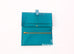 Hermes Blue Paon Green Chèvre Bearn Long Wallet Clutch