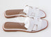 Hermes Womens White Oran Sandal Slipper 36 Shoes