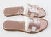 Hermes Womens Gold Oran Sandal Slipper 36 Shoes