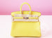 Hermes Lime Yellow Matte Crocodile Birkin 25 Handbag