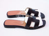 Hermes Womens Black Oran Sandal Slipper 36 Shoes - New