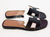 Hermes Womens Black Oran Sandal Slipper 37 Shoes - New