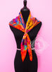 Hermes Blue Pink Twill Silk 90 cm Under The Waves Scarf