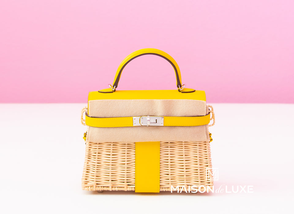 Hermes Jaune de Naples Picnic Mini Kelly Handbag