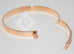 Hermes Rose Gold Pave Diamond Kelly Bracelet Bangle Small