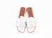 Hermes Women's White Oran Sandal Slipper 36 Shoes
