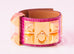 Hermes Fuchsia Alligator CDC Collier de Chien Bracelet S