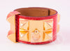 Hermes Red Alligator Crocodile CDC Collier de Chien Bracelet S - New