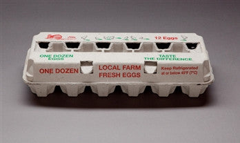 Egg Cartons-1 Dozen-Red/Green Design-Pack of 25