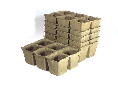 Six Cell CowPot-Biodegradable plantable pot--size #3--Pack of 6