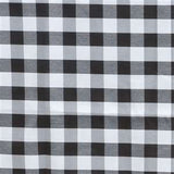 "Black & White Checkered Polyester Tablecloth--60""X102"""