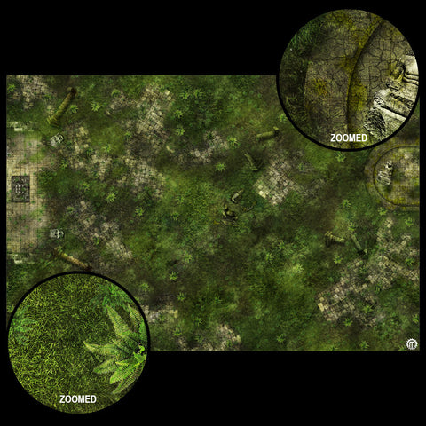 Mats by Mars: Forgotten Temple (Basin) Tabletop Wargaming Play Mat