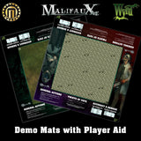 Malifaux Demo Play Mats with PlayerAid Border