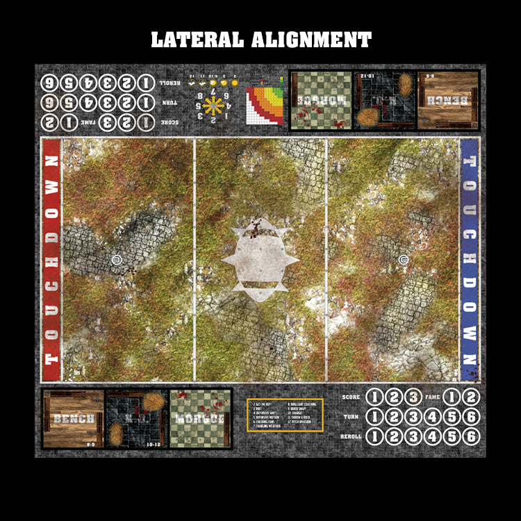 Abandoned City Fantasy Football 7s Play Mat / Pitch from Mats by Mars
