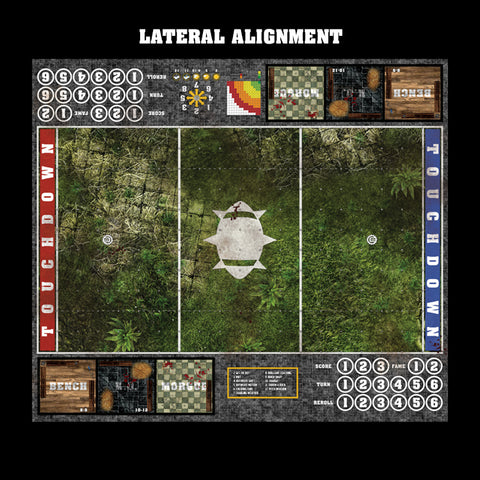 Forgotten Temple Fantasy Football 7s Play Mat / Pitch from Mats by Mars
