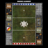 Green Meadow Fantasy Football 7s Play Mat / Pitch from Mats by Mars