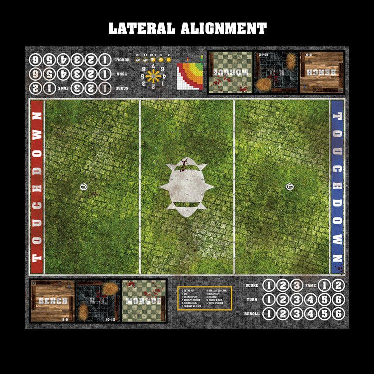Overgrown Cobbles Fantasy Football 7s Play Mat / Pitch from Mats by Mars