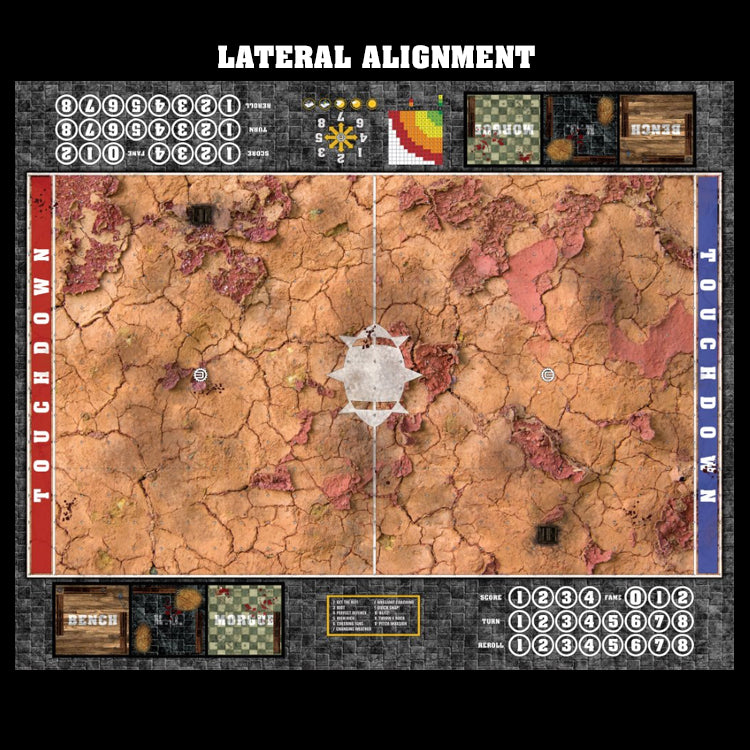 Mats by Mars:  Badlands Fantasy Football Play Mat / Pitch