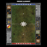Mats by Mars:  Green Meadow Fantasy Football Play Mat / Pitch