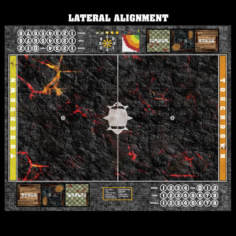 Mats by Mars:  Molten Crust Fantasy Football Play Mat / Pitch