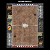 Mats by Mars:  Red Sett Stone Fantasy Football Play Mat / Pitch