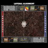 Mats by Mars:  Shattered Soil Fantasy Football Play Mat / Pitch