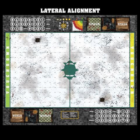 Mats by Mars:  Winter's Wrath v1.0 Fantasy Football Play Mat / Pitch
