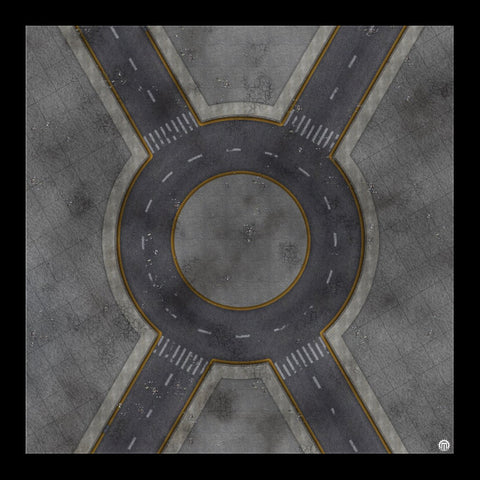 Mats by Mars: Crime Alley (Circle) Tabletop Wargaming Play Mat