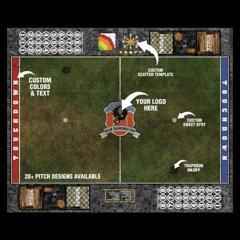 Custom Fantasy Football 7s Play Mat / Pitch from Mats by Mars