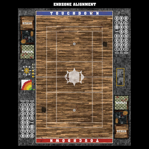 Mats by Mars:  Tavern Fantasy Football Play Mat / Pitch