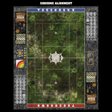 Mats by Mars:  Forgotten Temple Fantasy Football Play Mat / Pitch