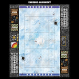Mats by Mars:  Frosty Cobbles Fantasy Football Play Mat / Pitch