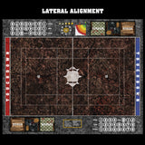 Shattered Soil Fantasy Football 7s Play Mat / Pitch from Mats by Mars