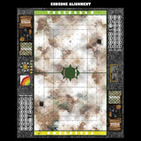 Mats by Mars:  Snowy Tundra Fantasy Football Play Mat / Pitch
