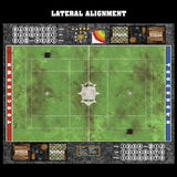 Mats by Mars:  Verdant Field Fantasy Football Play Mat / Pitch