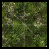 Mats by Mars: Forgotten Temple (Plaza) Tabletop Wargaming Play Mat