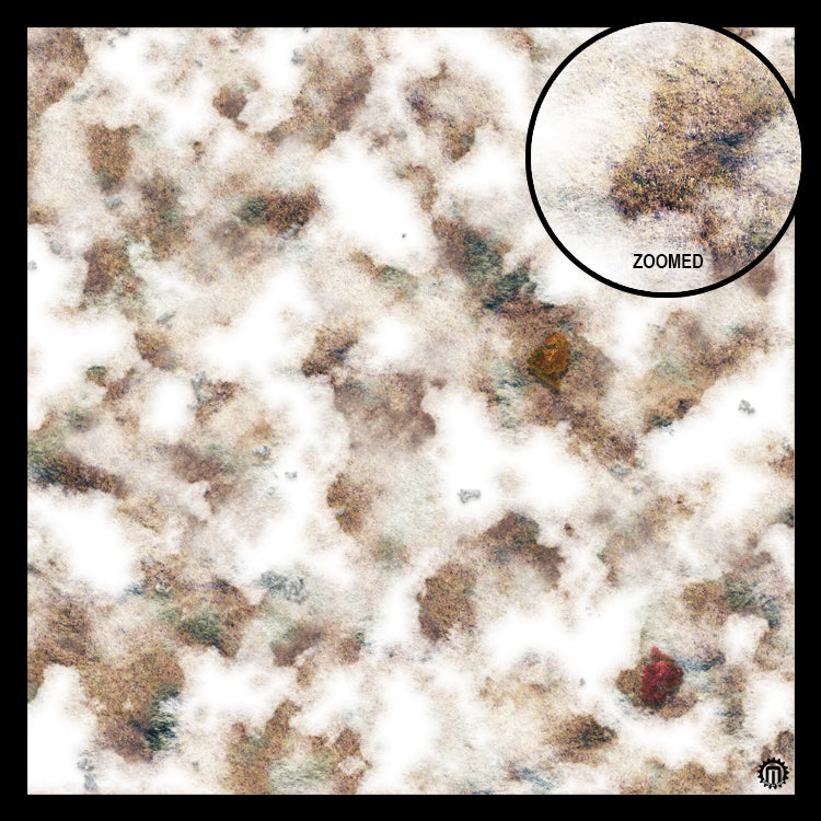 Mats by Mars: Snowy Tundra Tabletop Wargaming Play Mat
