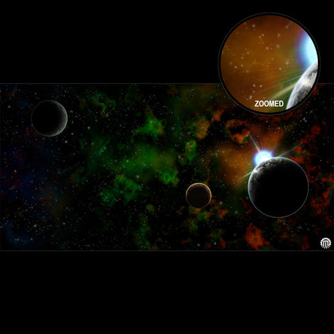 Mats by Mars: Emerald Dawn Tabletop Wargaming Space Play Mat