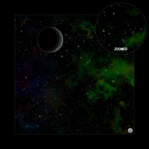 Mats by Mars: Emerald Cloud Tabletop Wargaming Space Play Mat