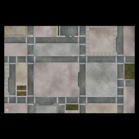 Mats by Mars: Streets of Justice C Tabletop Wargaming Play Mat
