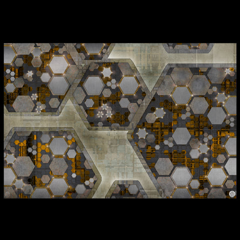 Mats by Mars: Quinfinity Citrine Tabletop Wargaming Play Mat