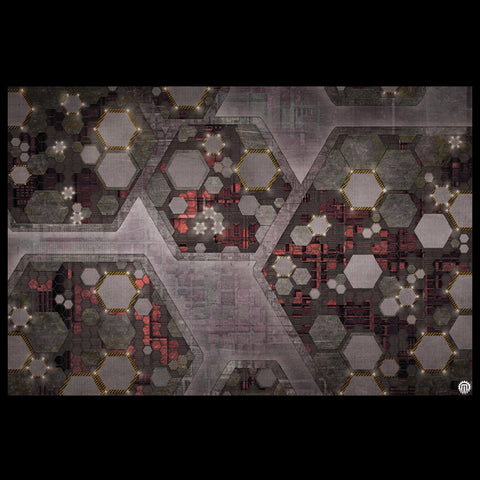 Mats by Mars: Quinfinity Ruby Tabletop Wargaming Play Mat