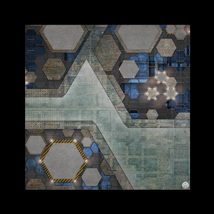 Mats by Mars: Quinfinity Sapphire Tabletop Wargaming Play Mat