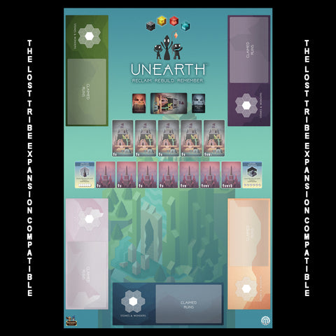 Unearth 5 Player Play Mat - Compatible with Lost Tribes Expansion