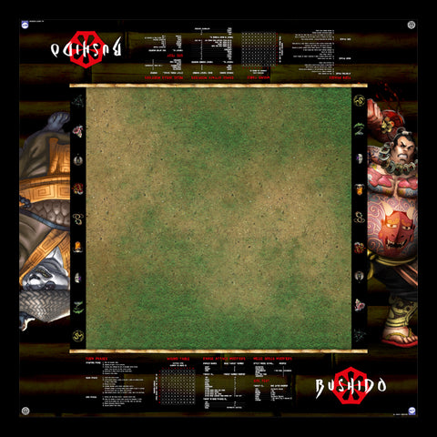 GCT Studios BUSHIDO PlayerAid Play Mat by Mats by Mars