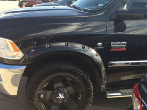 2010-2018 Dodge Ram 2500 / 3500 Painted to Match Fender Flare Set - Bolt Style